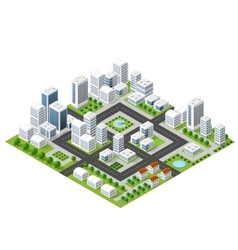 Flat isometric map vector image