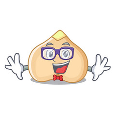 geek chickpeas character cartoon style vector image