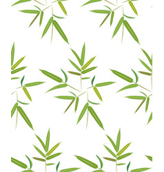 Green bamboo leaves vector
