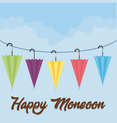 happy monsoon design vector image