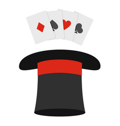 hat with card icon cartoon style vector image