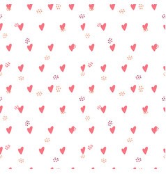 heart seamless pattern love valentine day mother vector image