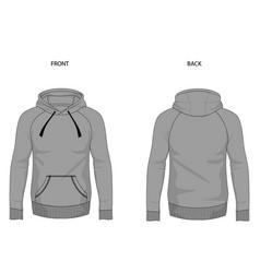 Hoodie template mock up hooded sweatshirt vector
