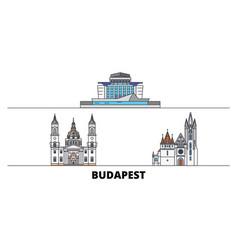 Hungary budapest city flat landmarks vector