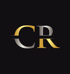 initial cr letter logo with creative modern vector image