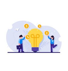 Invest in idea concept businessman or investor vector