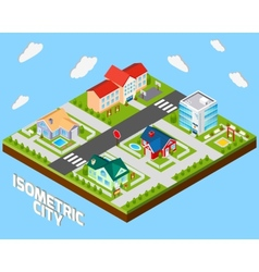 Isometric City Project vector