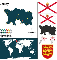 Jersey map vector image