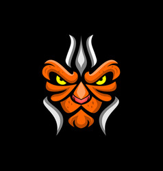 lion head gaming mascot or twitch vector image