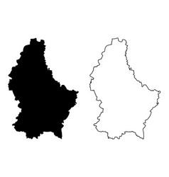 Luxemburg map vector