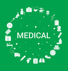 medical icon set infographic template vector image