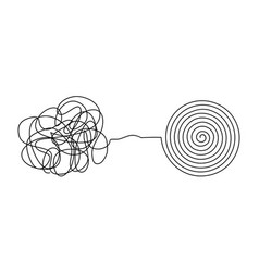 messy complicated clew line transforming vector image