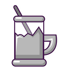 Metal glass cup for tea icon cartoon style vector
