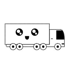 Monochromatic truck sticker vector