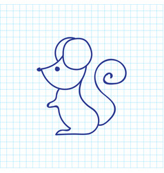 of animal symbol on mouse vector image