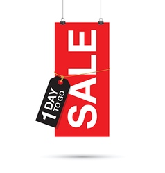 one day to go sale sign vector image