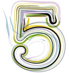 Organic font number 5 vector
