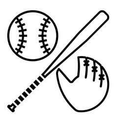 Outline beautiful baseball equipment icon vector