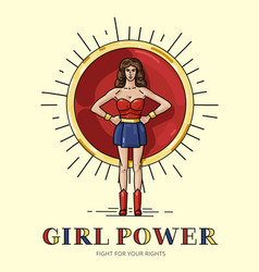 poster girl power with strong independant woman vector image