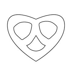 Pretzel icon in outline style vector image