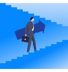 Raising up career ladder business concept vector