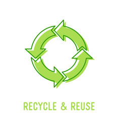 Recycle and reuse concept recycling symbol vector