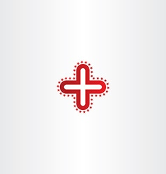 red logo medical cross icon vector image