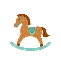 Rocking horse isotated icon vector