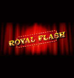 Royal flash banner template vector