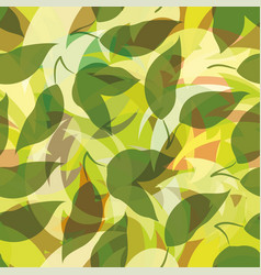 seamless background leaves silhouettes vector image