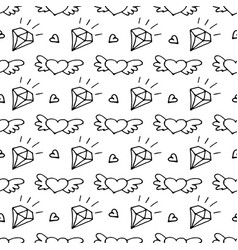 seamless pattern with valentine hearts and vector image