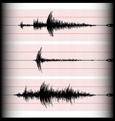 Seismogram writing vector