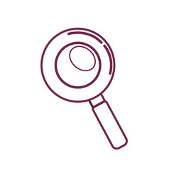 Silhouette magnifying optical search tool vector