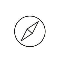 simple compass linear icon vector image