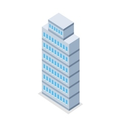 Skyscraper in Isometric Projection vector image