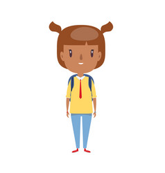 Smiling little child cheerful elementary school vector