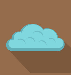 Snow cloud icon flat style vector