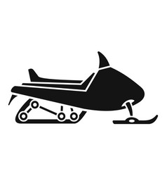 sport snowmobile icon simple style vector image