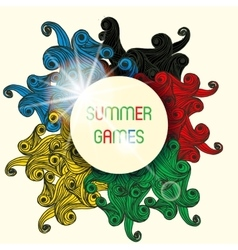 Summer Games With Colorfull Waves vector image