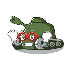 Super hero tank character cartoon style vector