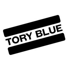 Tory blue black stamp vector