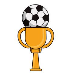 Trophy soccer sport golden image vector