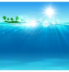 Tropical island at the ocean for vacation design vector