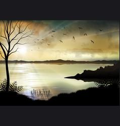tropical sunrise on sea vector image