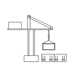 Truck crane icon outline style vector