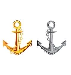 Two anchors vector image