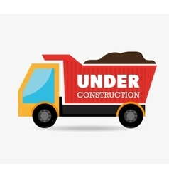 under construction drump truck vector image