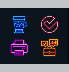 Verify frappe and printer icons business vector