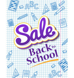 vertical poster sale back to school dynamic vector image