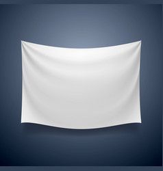 White cloth banner signboard blank vector
